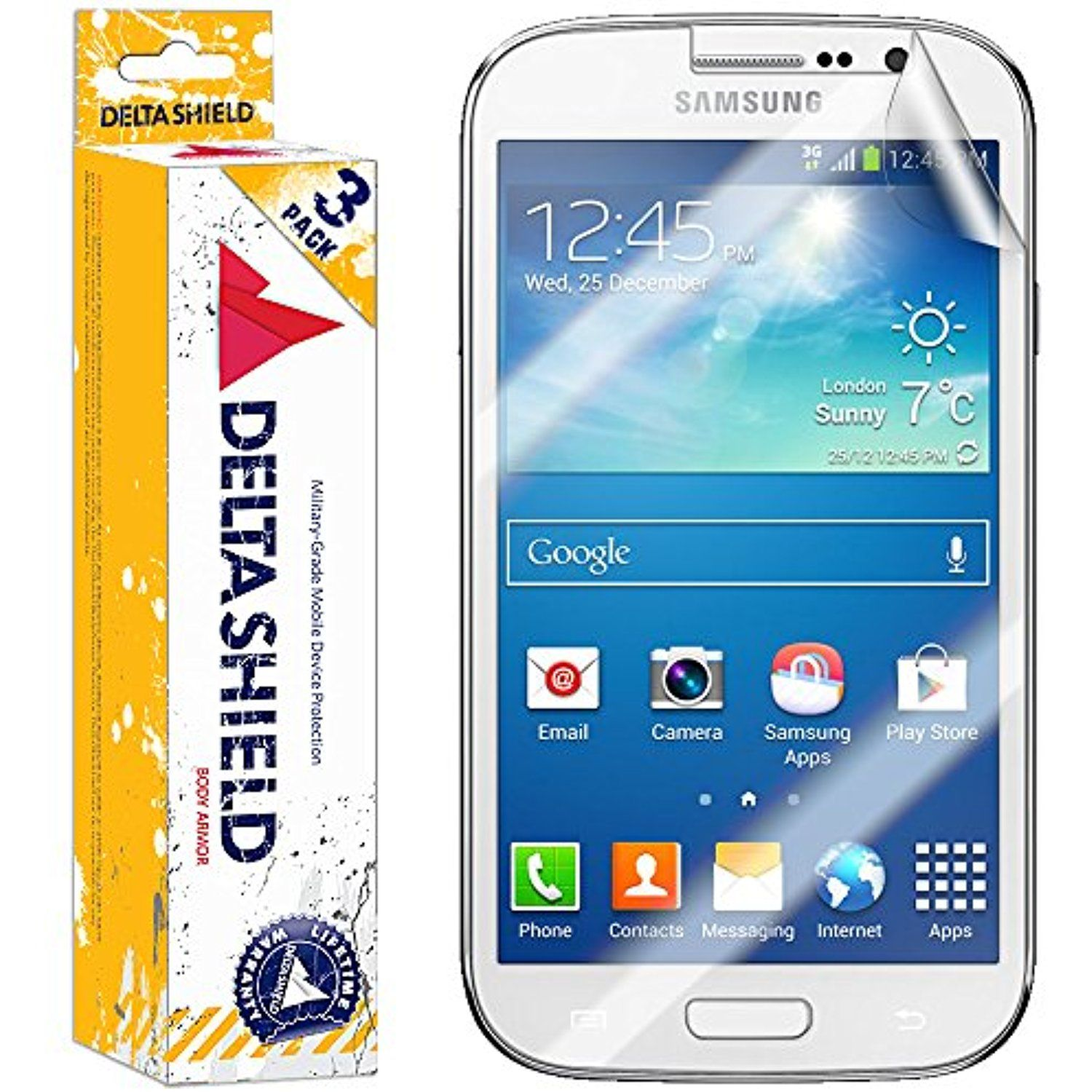 DeltaShield BodyArmor Samsung Galaxy Grand Neo Screen Protector Premium HD Ultra Clear Cover Shield w Lifetime Replacement Anti Bubble