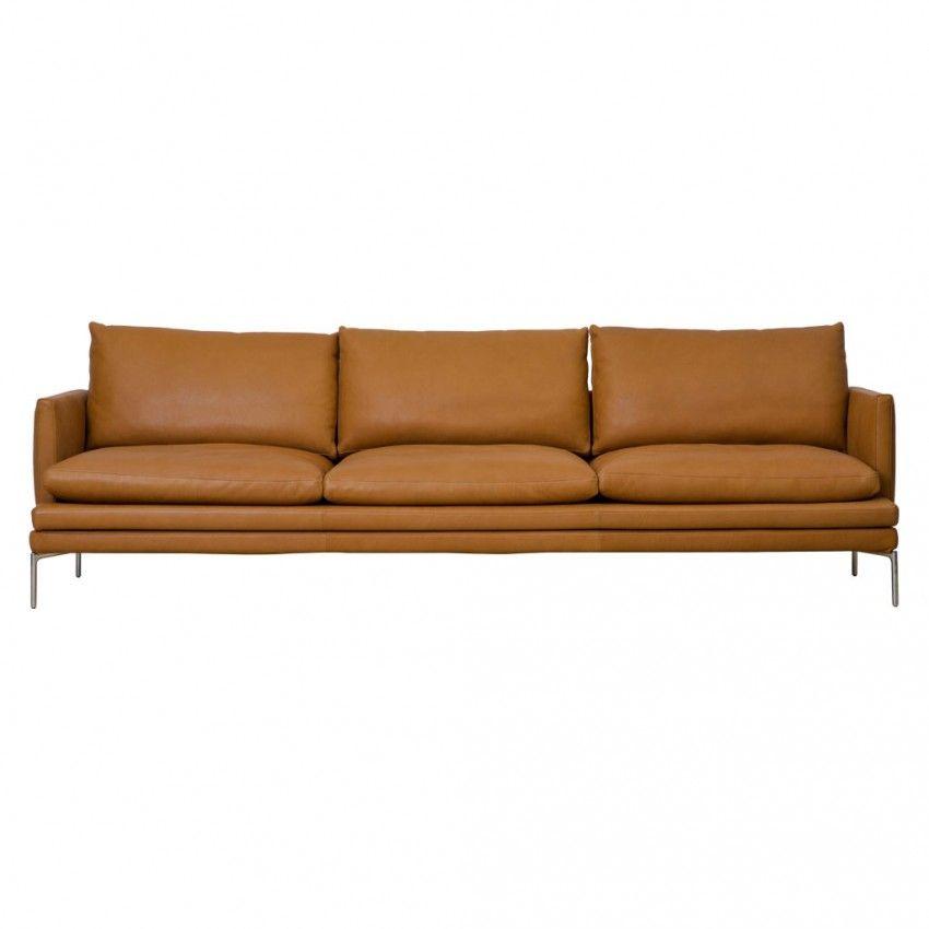 Canapé William en cuir 266 cm Zanotta 12 000 €