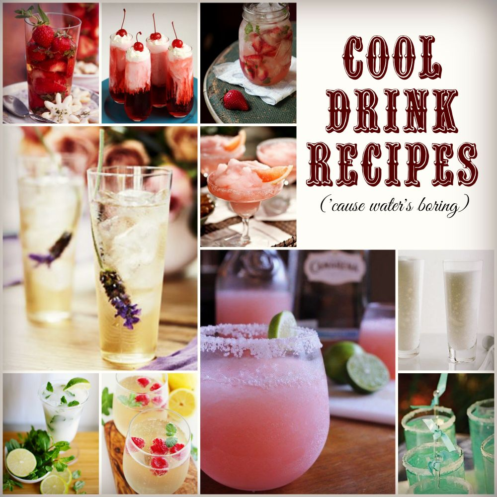 tons of yummy drinks to sip - both alcoholic and non-alcoholic