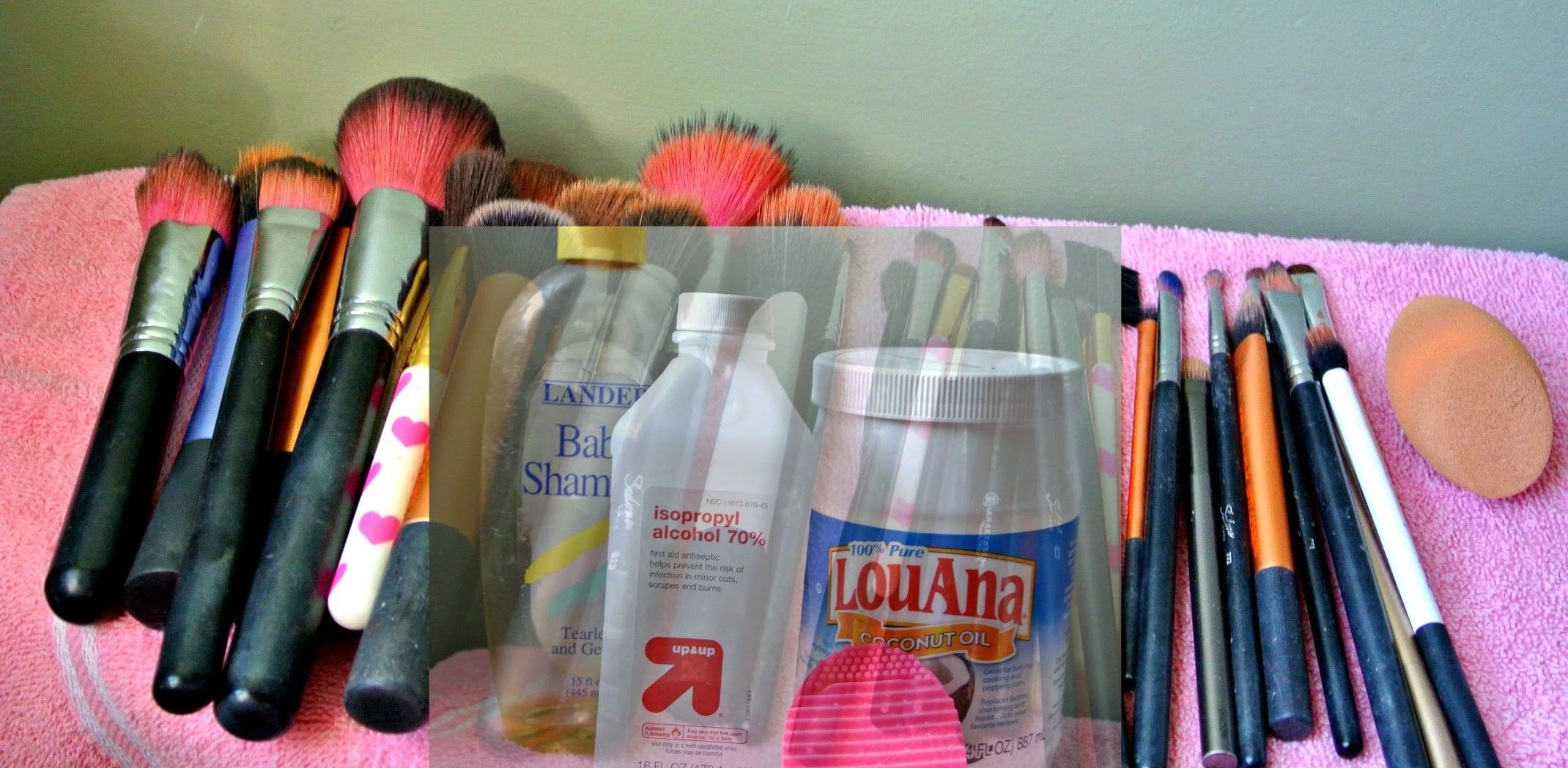 How To: Clean, Disinfect & Condition Makeup Brushes & Beauty Blender - YouTube