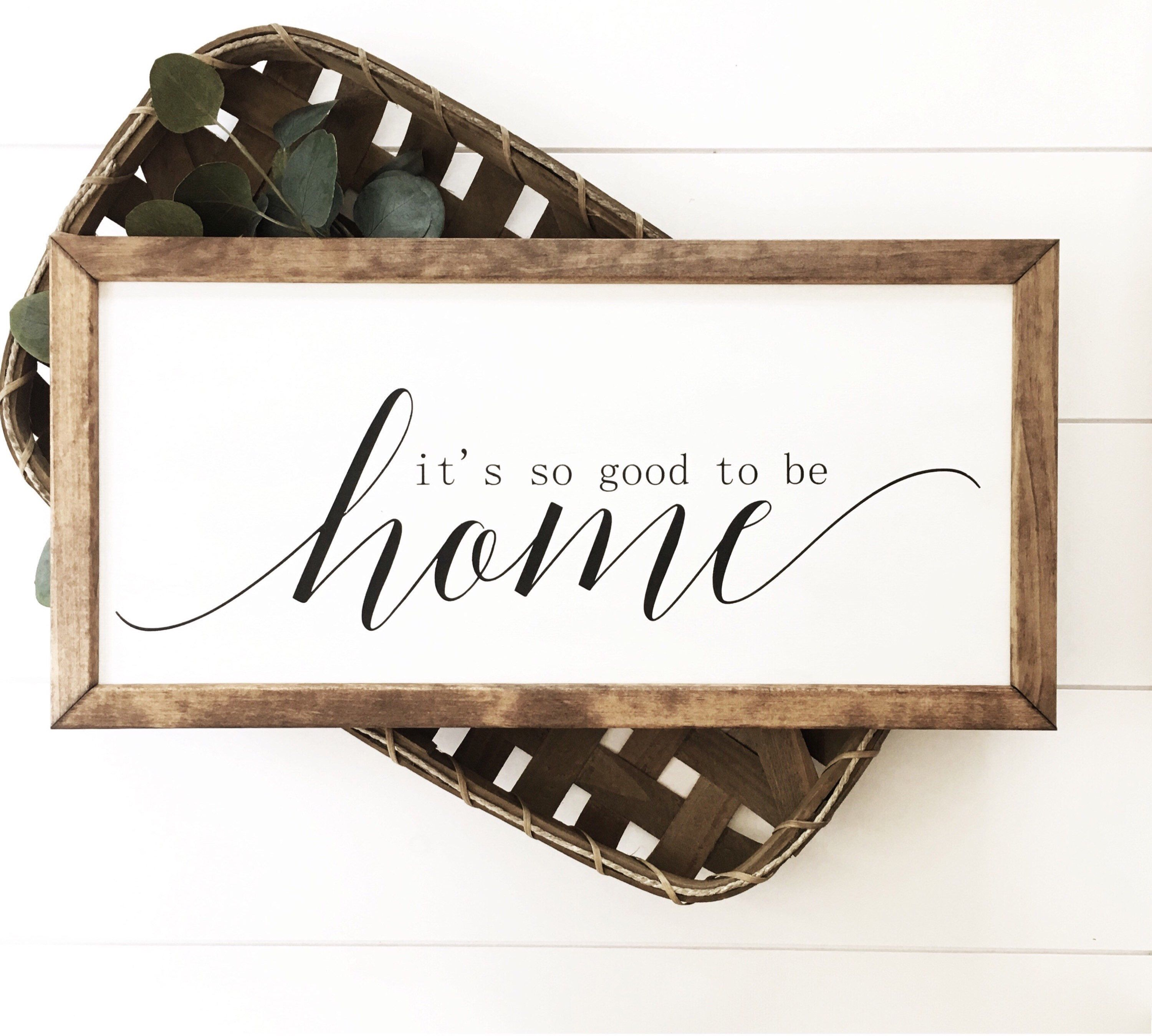 21 Most Unique Wood Home Decor Ideas: Its So Good To Be Home Sign, Housewarming Gift, Farmhouse