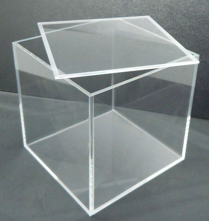 clear acrylic rectangle storage display box with lid buy