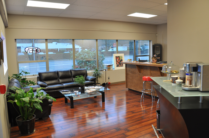 Lobby of auto repair shop google search shop projects for Garage office designs