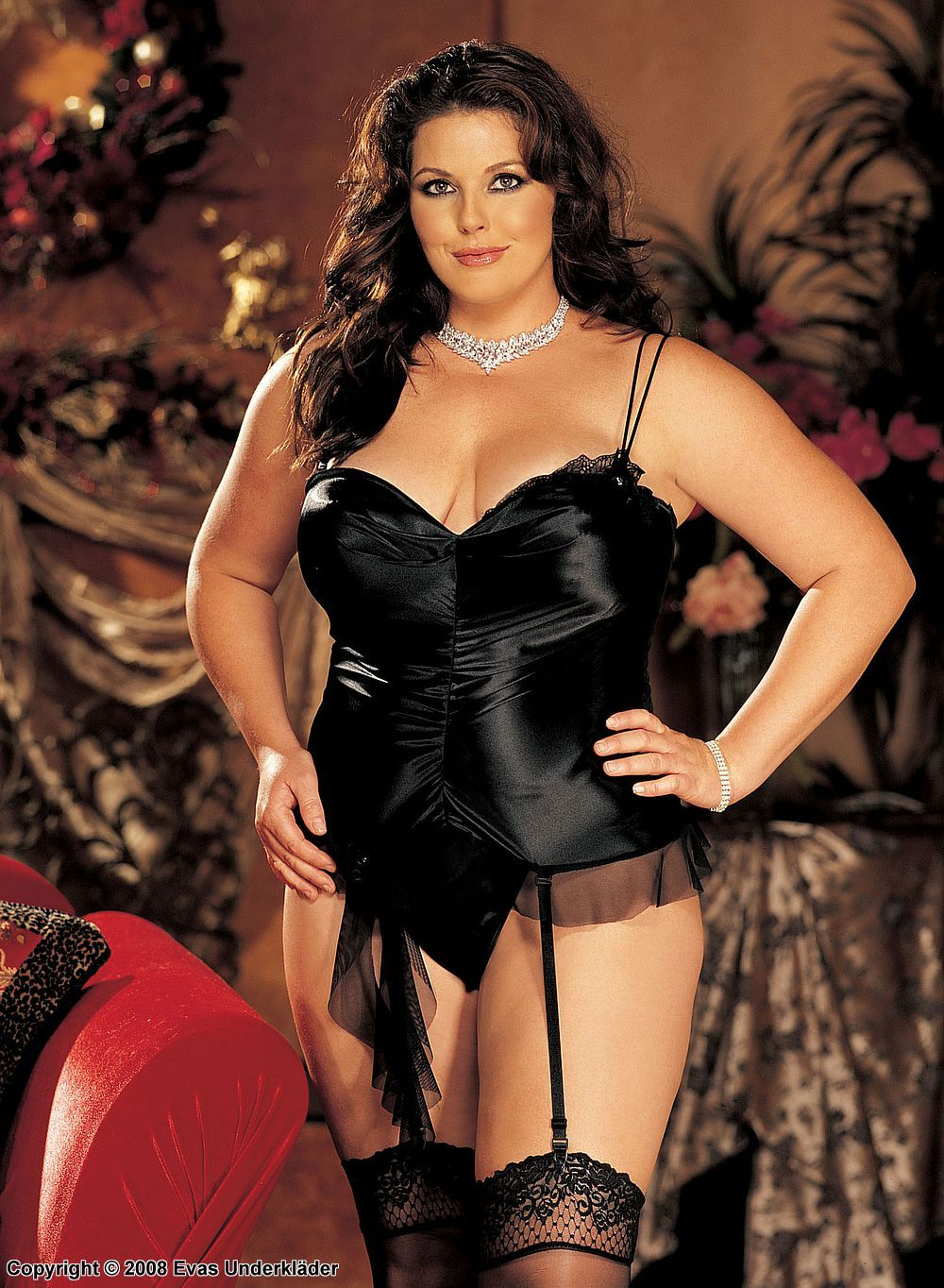 78d203fcd6b Shirley of Hollywood plus size lingerie model