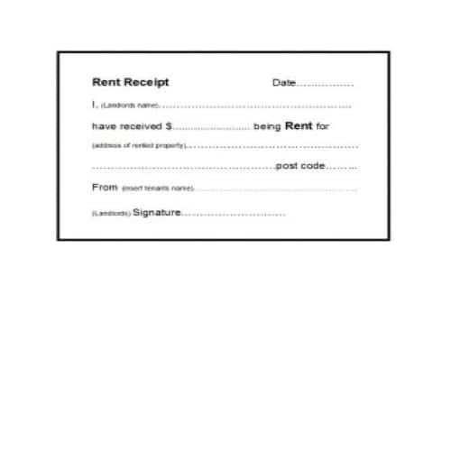 Get Our Image Of Online Rental Receipt Template Receipt Template Being A Landlord How To Get Money