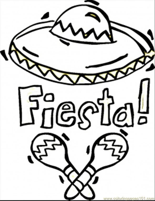 Download Or Print This Amazing Coloring Page Sombrero Coloring