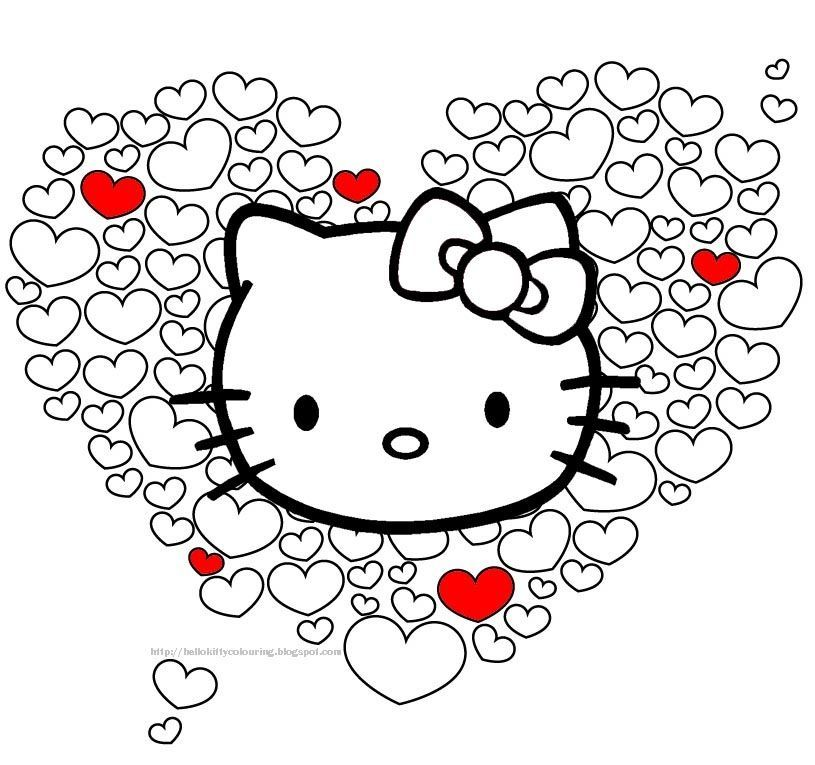 Hello kitty Hello kitty Pinterest Hello kitty, Kitty and Sanrio - new coloring pages with hello kitty
