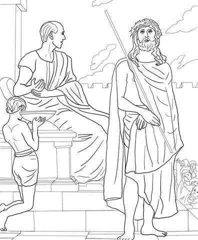 First Station - Jesus is Condemned to Death coloring page from Good Friday category. Select from ...
