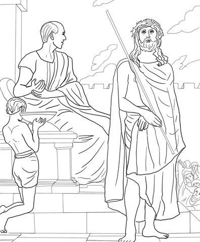 Primera Estación: Jesús es Condenado a Muerte Dibujo para colorear ...