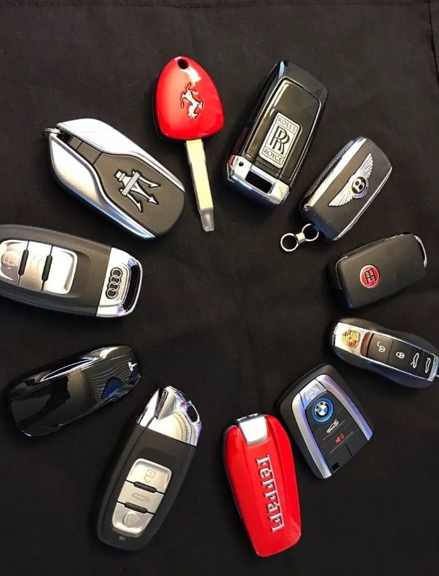 The key fobs of these super cars.