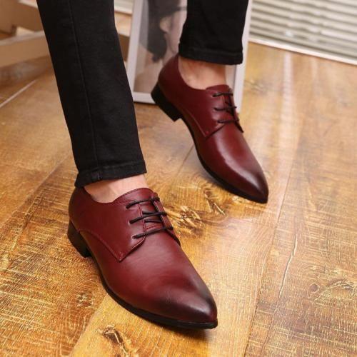 Buckles Ruched Slip-On Men's Dress Shoes red | eBay