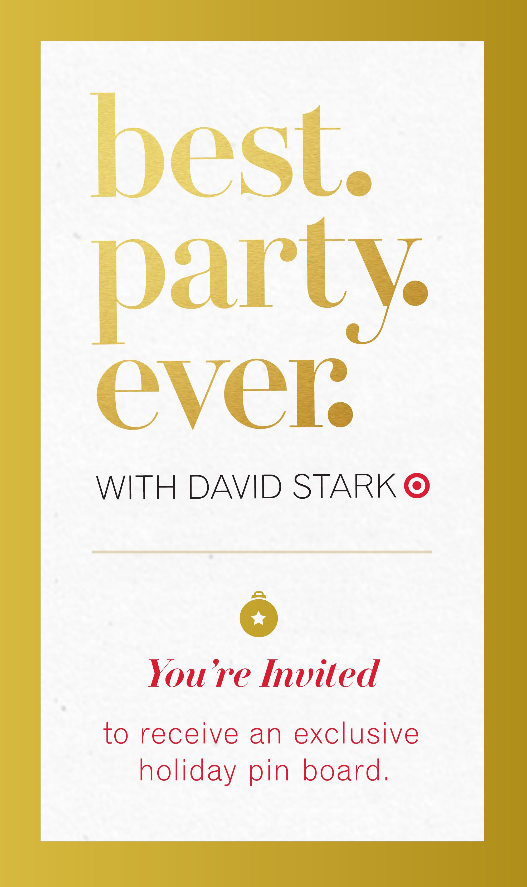 collaboration event with Target & David Stark & Pininterest ...