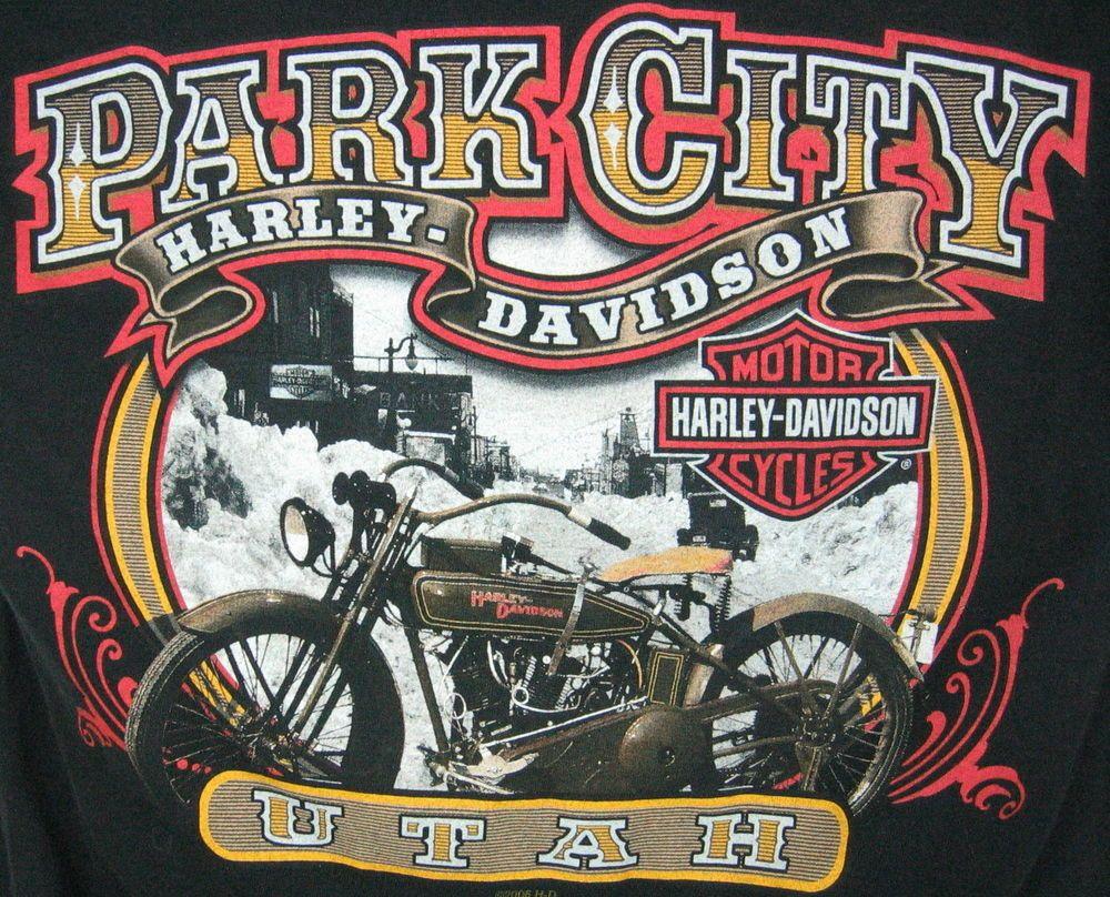 Shirt design utah - Park City Utah Harley Davidson T Shirt Black Size L Harley Logo Bike Store City