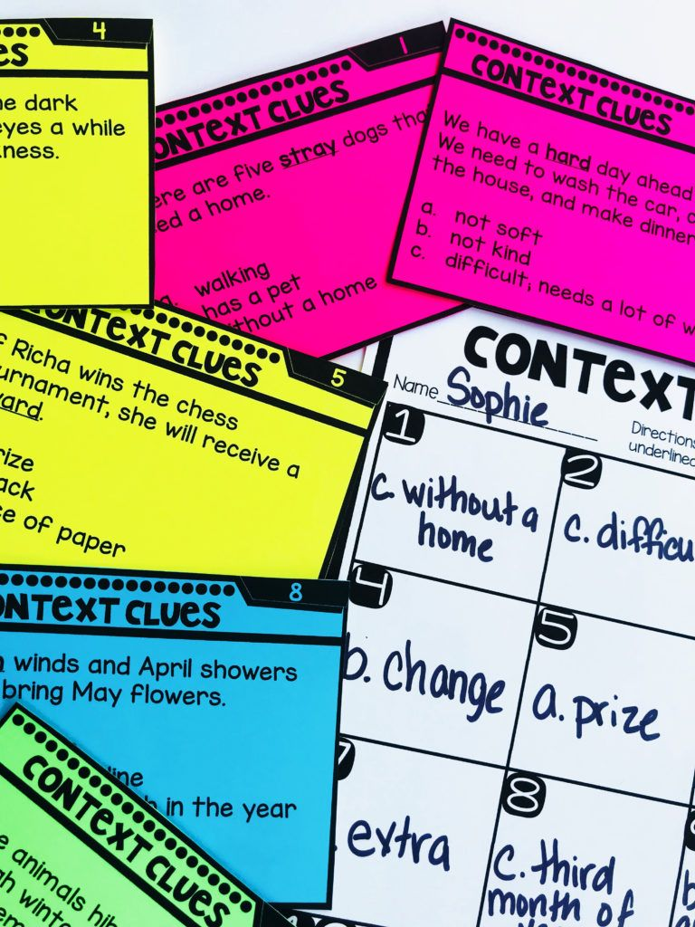 Context Clues First Grade Hands On Reading Context Clues Context Clues Worksheets Clue [ 1024 x 768 Pixel ]