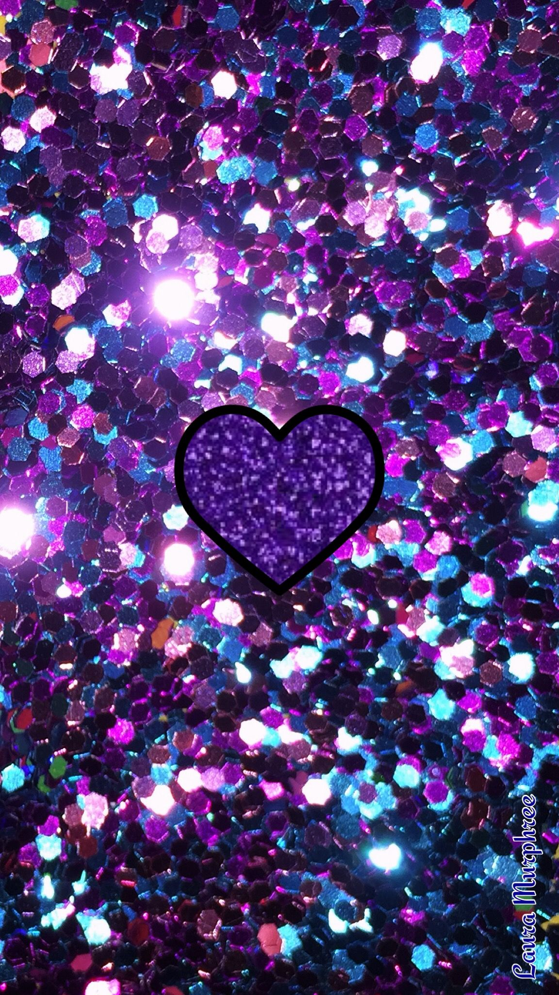 Glitter Phone Wallpaper Sparkle Background Sparkling Background Bling Shimmer Sparkles Glitter Glittery Colorful Heart Blue Purple