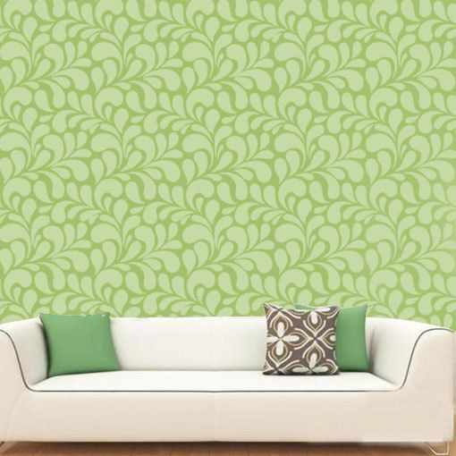 Fern Pattern Wall Stencil Create DIY Fern Pattern Wall Home Decor Reusable Stencils for Painting
