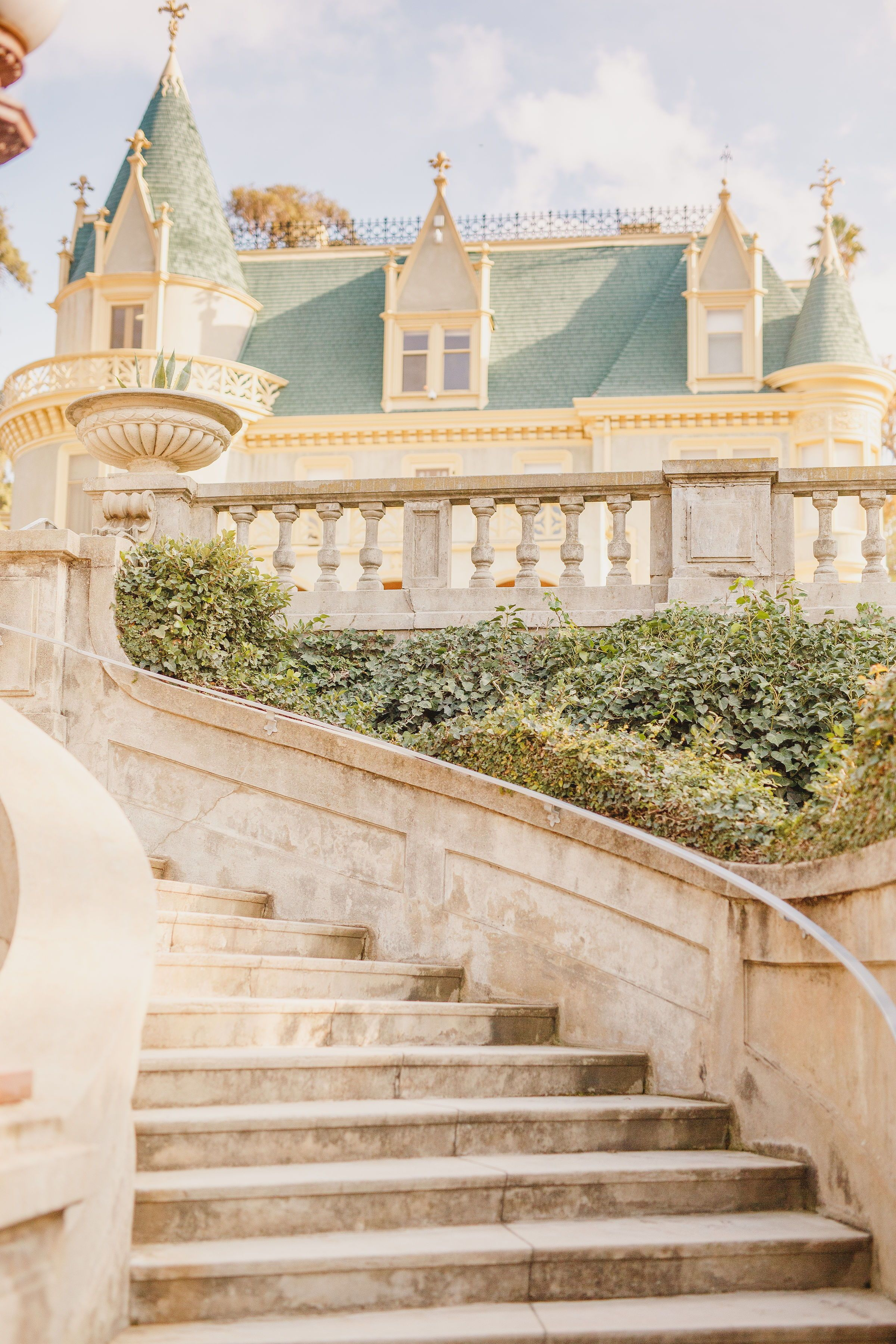 Kimberly Crest House in Redlands, CA, magical French