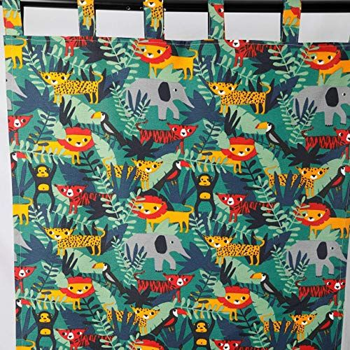 Nursery Curtains Animal Curtains For Kids Room Baby Curta Https Www Amazon Com Dp - Vorhänge Kinderzimmer Dschungel