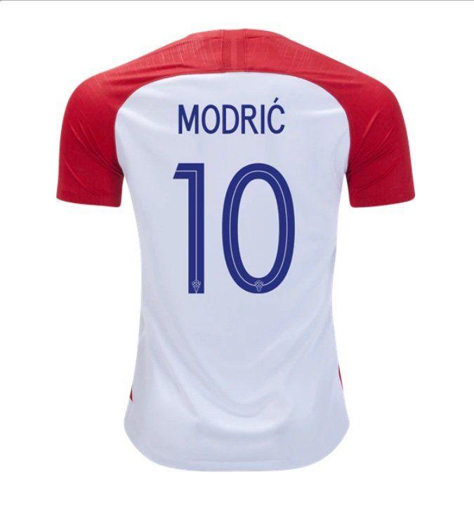 Luka+Modric+10 +Croatia+Home+Jersey+SOCCER+2018-2019+-red white   LFCPreSeason  ICC2018  Arsenal  ARSPSG  LFC  FCBarcelona  realmadrid   bayern  football ... 00f4c484a