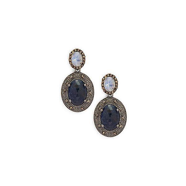 Bavna Multi-Sapphire Drop Earrings DWp46B
