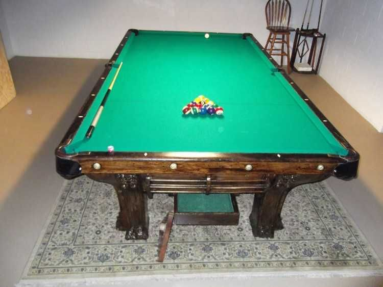 Antique Brunswick Pool Table 5x10 Pfister 0d 0atop Of The Line In 1898 1911 6 Leg Table Table Was In Allingers Pool H Pool Table Pfister Brunswick Pool Tables