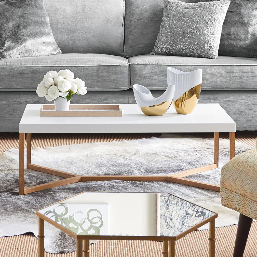 Dwellstudio Iris Coffee Table Cool Coffee Tables Coffee Table Wood Coffee Table White [ 1047 x 1047 Pixel ]