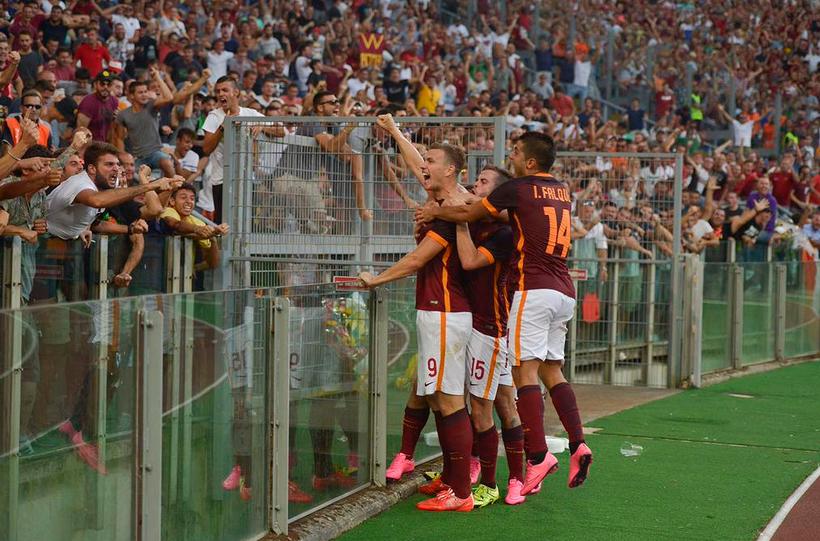 Roma Domina E Dupla Bosnia Garante A Vitoria No Classico Contra O Juventus