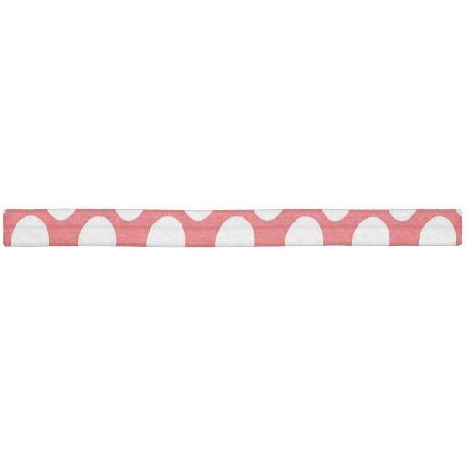 Red white polka dot hair tie