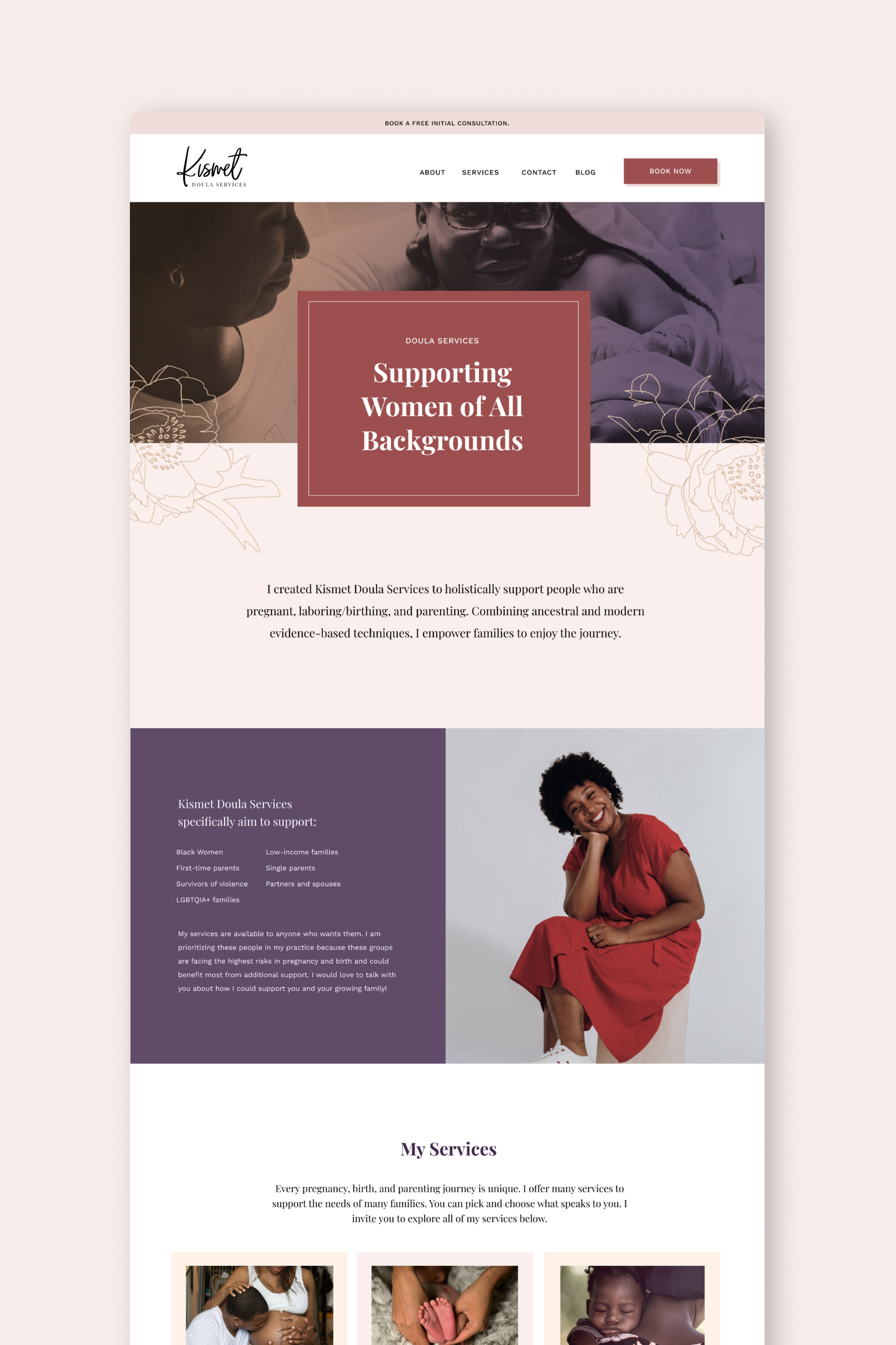 Website For Doula Services By Applet Studio In 2020 Squarespace Web Design Web Design Web Design Services