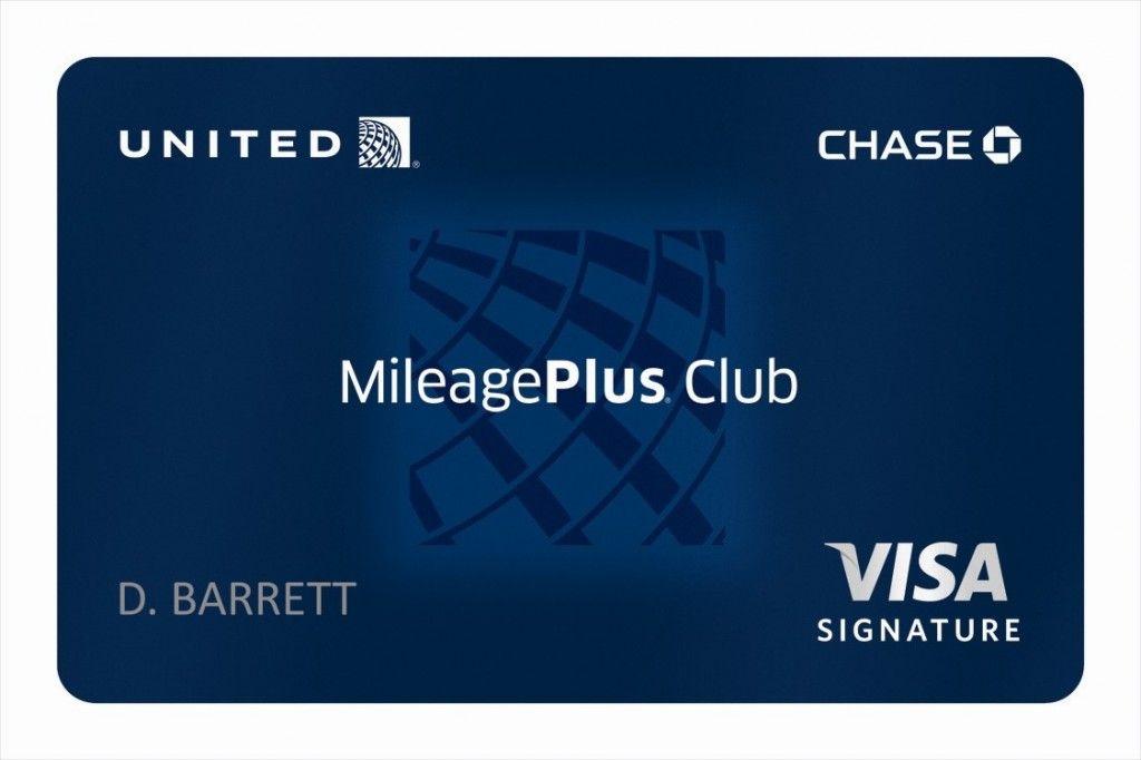 United Airlines Mileage Plus Club VISA Signature blue