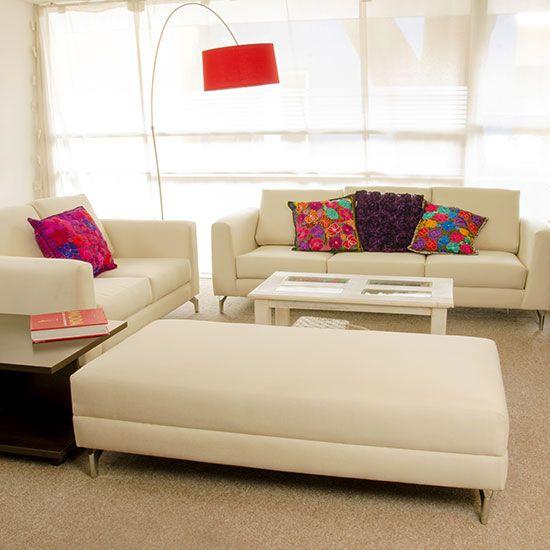 Salas Con Muebles Beige