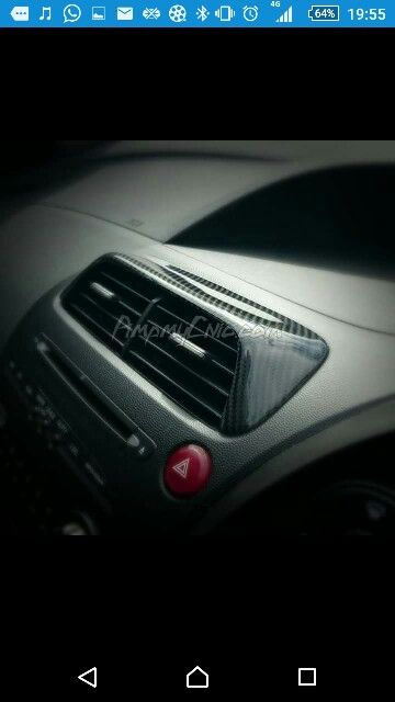 Civic Carbon Fibre Air Vent Cover Fn2 Civic Typer Civinfo Air Vent Covers Carbon Fiber Honda Civic