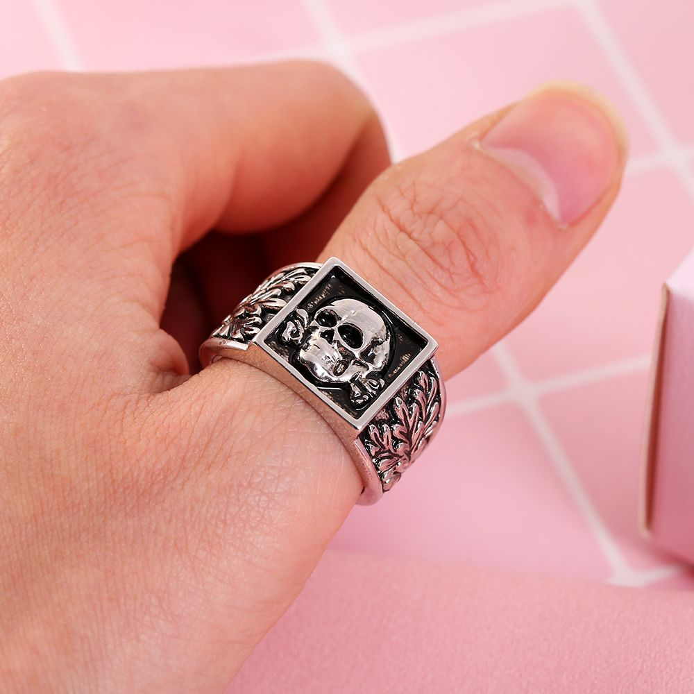 Wholesale cool skull black men Adjustable ring, View wholesale cool ...