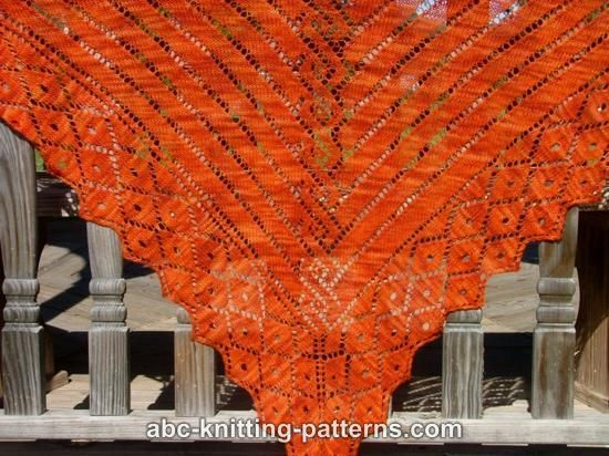 Greek Revival Shawl. Free pattern from http://www.abc-knitting-patterns.com/1151.html. (Don't download the pattern. Even if you say no to every add on they still change your search engine! - Just print or copy and paste to your own files).