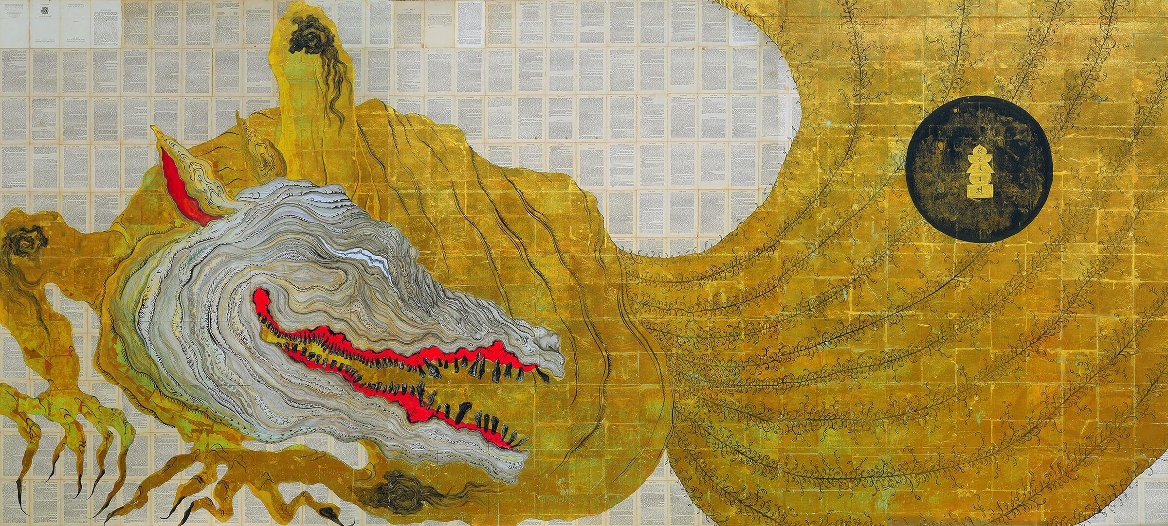01 妖怪の絵に 救われた 妖怪 精霊 神様を描く金子富之さん ほぼ日刊イトイ新聞 日本刺繍 バブルアート 日本美術