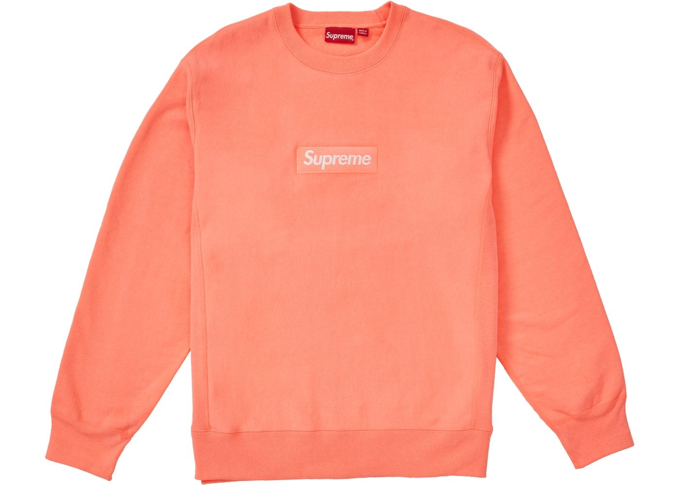 Supreme Box Logo Crewneck (FW18) Fluorescent Pink in 2020