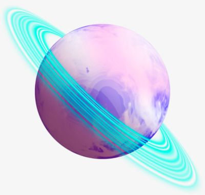 Planet pink. Clipart decoration effect png