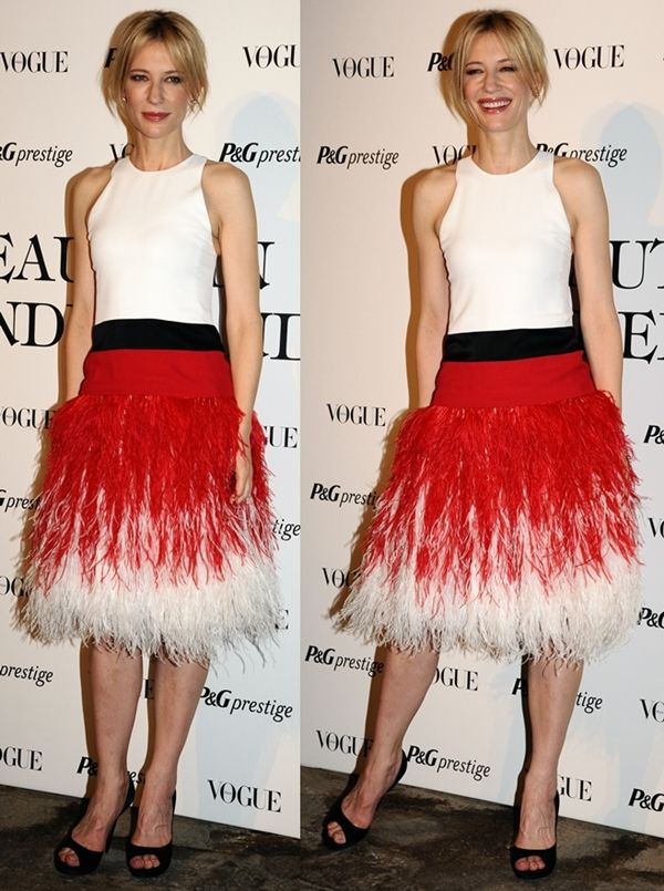 Only Cate Blanchett Can Rock an Ostrich Dress Like This