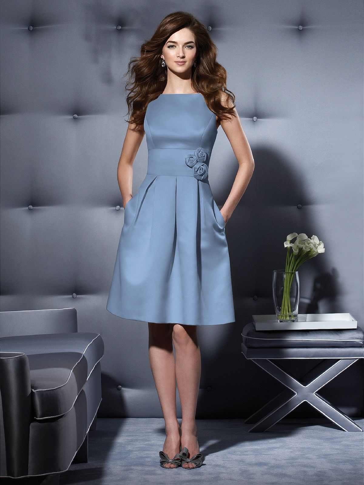 The Dessy Group Bridesmaid Dress in Windsor Blue | Wedding Ideas ...