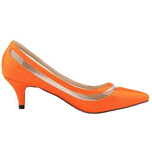 78dceaa5dc75d4 WanYang Femme Pointed Toe Stiletto Heel Pumps Elégants Chaussures Ouvertes  Vernies Bout Pointu