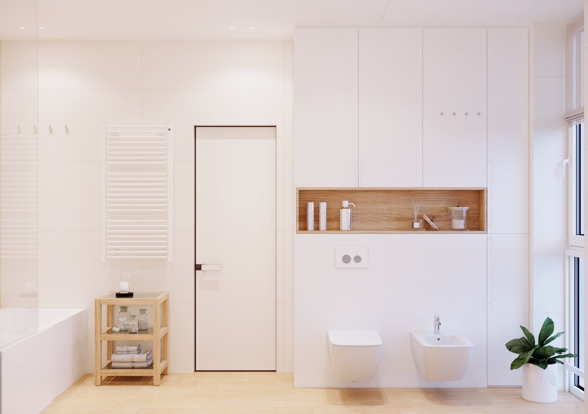 Underlayment In Badkamer : I like the warm undertones of this bathroom bathroom in 2018