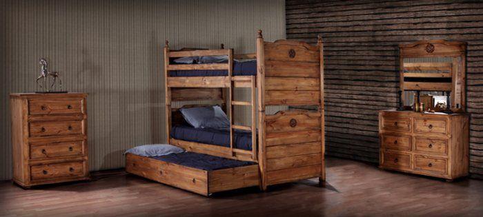 Texas Star Bedroom Bunk Bed Youth Bedroom Terrak Furniture Corporation Furniture Rustic Bedroom Furniture Rustic Furniture