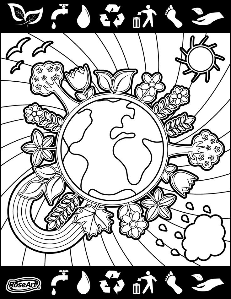 Happy World Environment Day Coloring Pages Holidayother Rhpinterest: Earth Day Coloring Pages For 3rd Grade At Baymontmadison.com