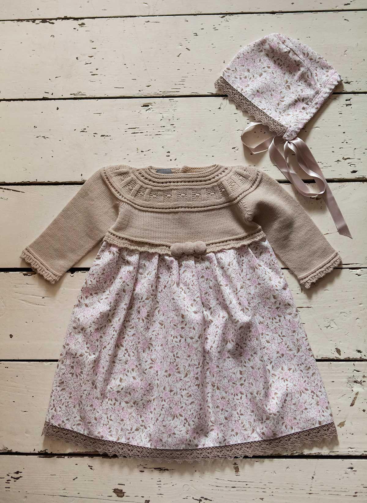 Flors Dress And Matching Bonnet Chachakids Autumn Winter