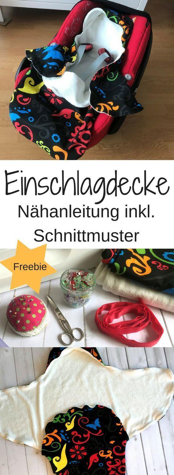 Manta para bebé: instrucciones de costura y patrón de costura gratis