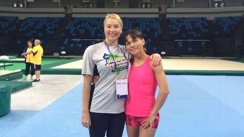 Oksana Chusovitina and Svetlana Boguinskaia