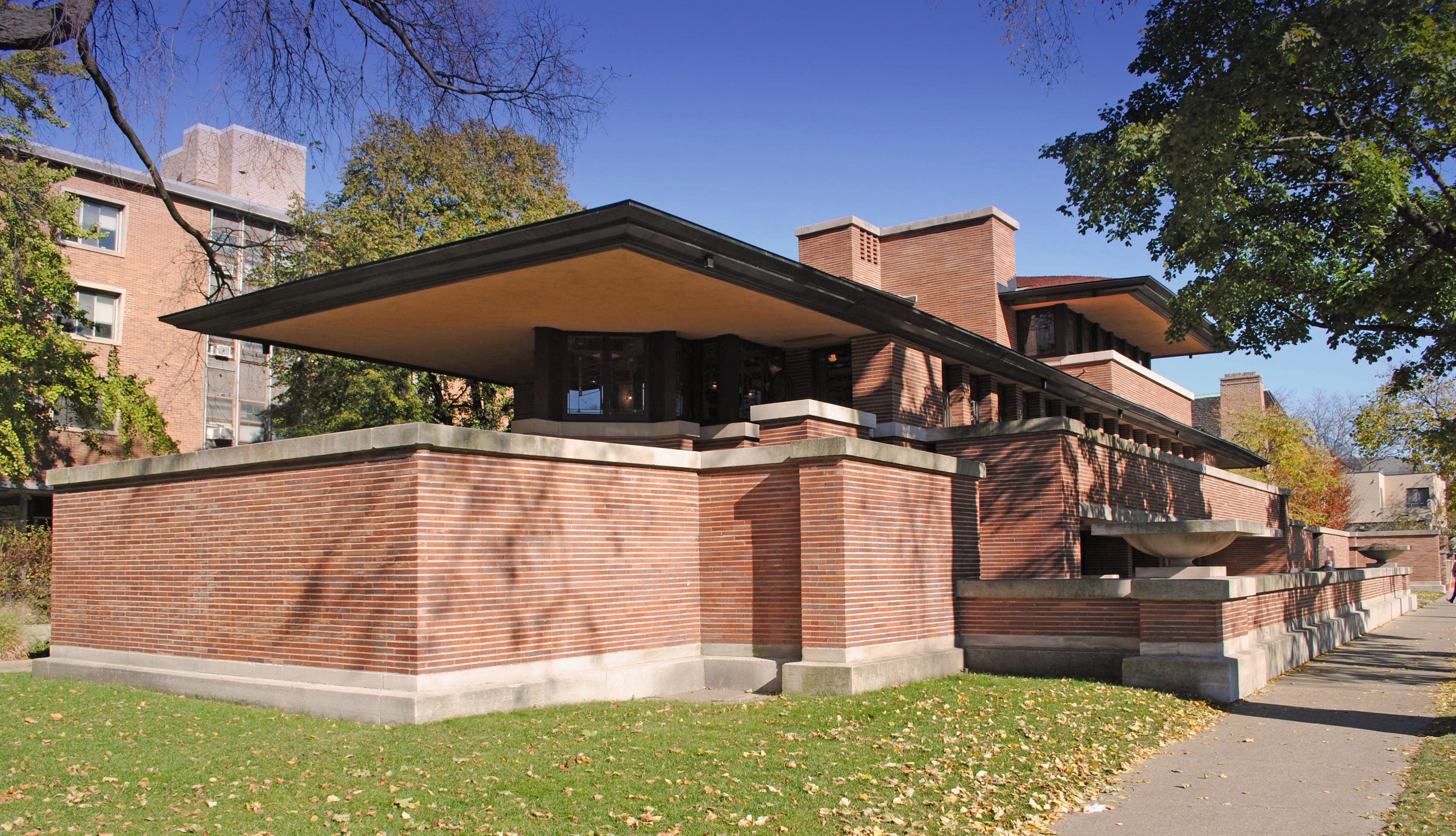 Frank Lloyd Wright Robie House Hyde Park Chicago 1909 Frank Lloyd Wright Architecture Robie House Frank Lloyd Wright Robie House