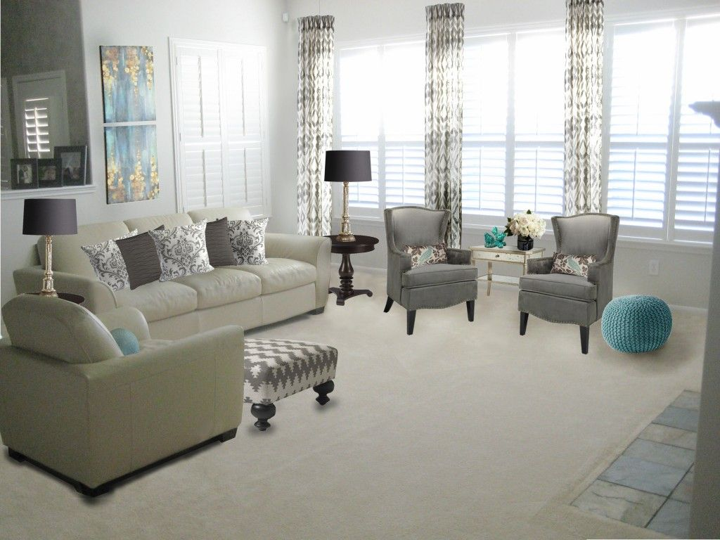 Sitting Room Occasional Chairs Living Room This Is A Grey With Blue Accents Sc Living Room Chairs Comfortable Living Room Chairs Occasional Chairs Living Room #occasional #chairs #living #room