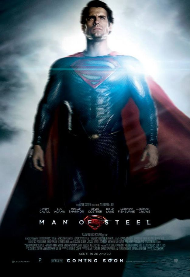 Superman Man Of Steel Movie Poster Henry Cavill DC Comics Superheroes Superhero