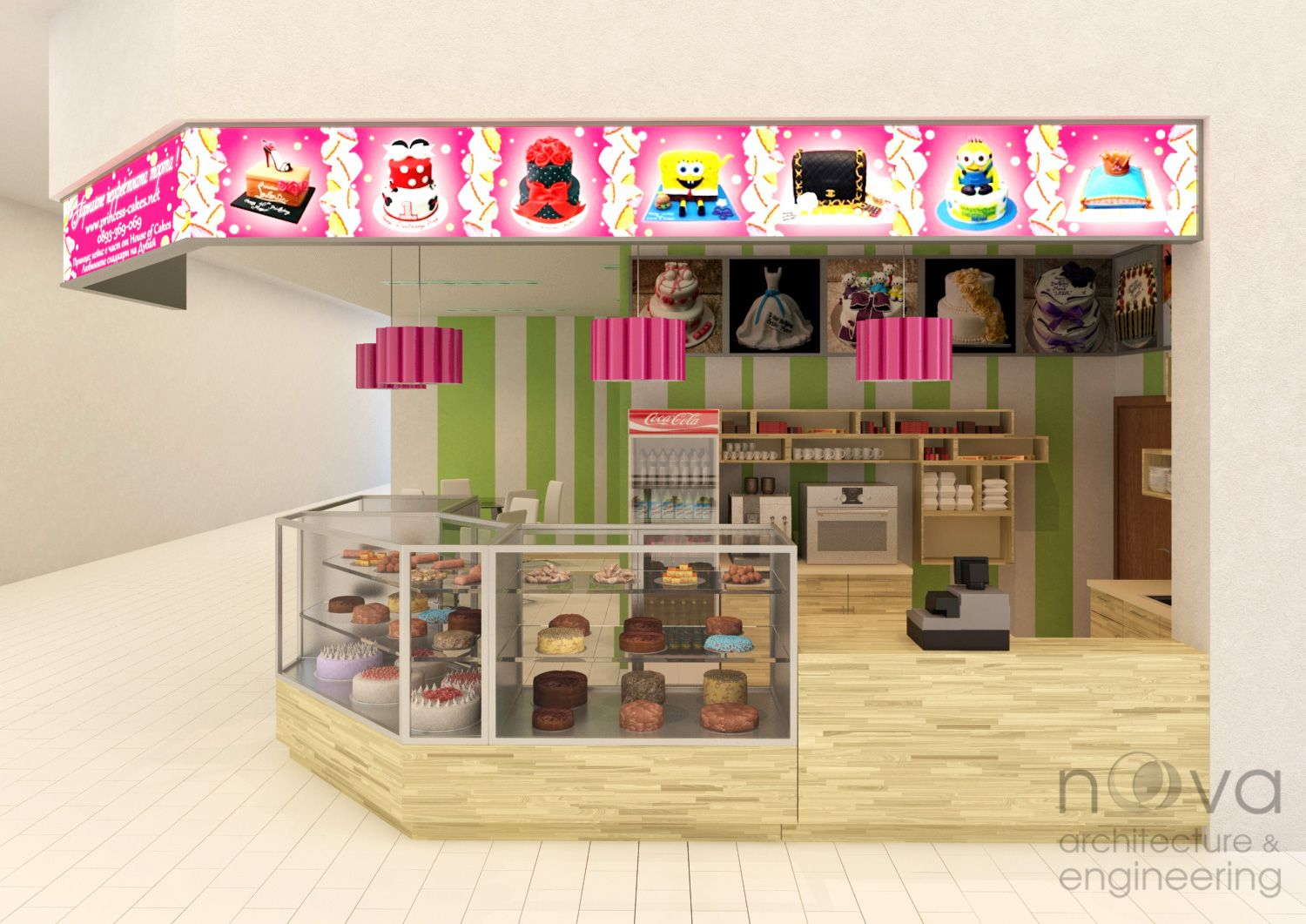 NOVA Architecture and Engineering - Interior design of candy shop